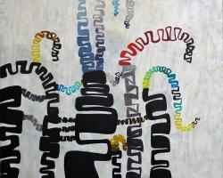 006 Aimless Springs, 100 x 130 cm, oil on canvas, 2020